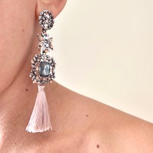 "Jewelry - NWT Beautiful Silk Thread Tassel Earrings 4"" Long"